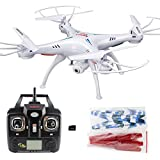 Xiaomax Syma X5C-1 Upgraded Version Quadcopter 2.4GHz 6-Axis Remote Control Helicopter Explorers Drone with HD Camera with 4GB Micro SD Card(White)