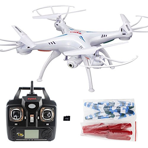 Xiaomax Syma X5C-1 Upgraded Version Quadcopter 2.4GHz 6-Axis Remote Control Helicopter Explorers Drone with HD Camera with 4GB Micro SD Card(White) (Remote Helicopter Outdoor compare prices)