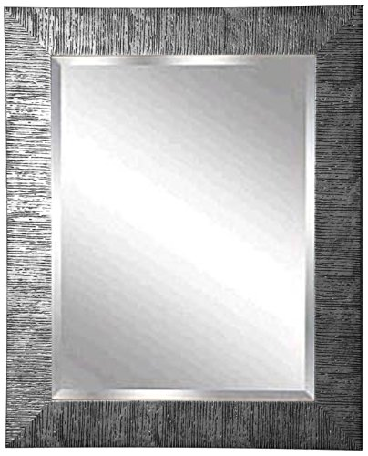 American Made Rayne Safari Silver Beveled Wall Mirror, 39.5 X 33.5 front-648626