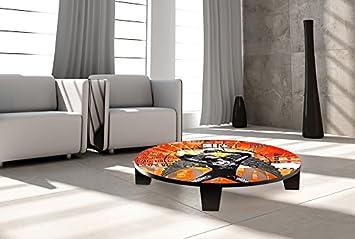 """TAF DECOR """"Rebirth"""" Art Coffee Table, 35"""" X 35"""" X 7.5"""", Multicolored"""