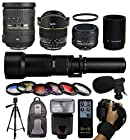 Ultimate All Around Lens Package for Nikon DF D7200 D7100 D7000 D5500 D5300 D5200 D5100 D5000 D3300 D3200 D3100 D3000 D300S D90 D60 DSLR SLR Digital Camera includes AF-S 18-200mm VR II Lens + 50mm f/1.8G Lens + Opteka 6.5mm f/3.5 HD Fisheye Lens + 650-2600mm Super Telephoto Lens + 6 Piece Graduated Effects Filters + Microphone + Tripod + Backpack + Flash w/ Remote + Hand Strap Wrist + $50 Gift Card for Prints