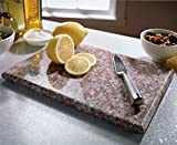 Small Granite Chopping Board Kitchen Food Preparation Rubber Slicing Natural