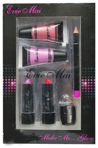 Make Me Glam Lipstick and Lip Gloss Gift Set