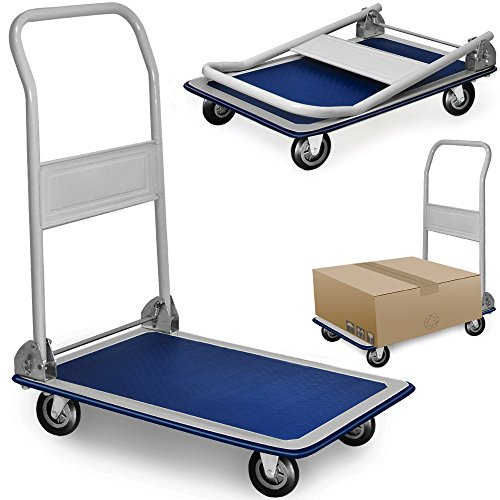 Plattformwagen-150-kg-Transportwagen-Handwagen-Transportkarre-Sackkarre-Wagen-klappbar