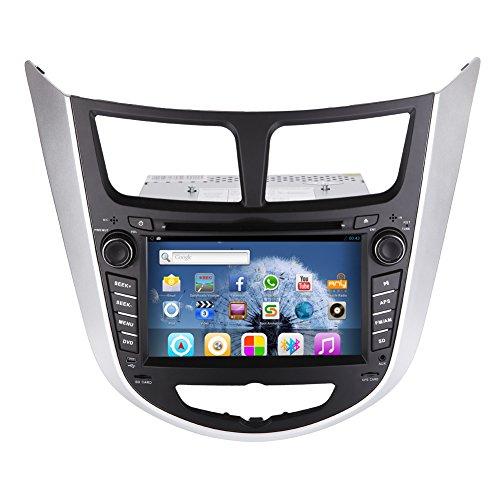 Car Navigation 6.2 Zoll Touch Screen Sonder f¨¹r Verna (2010-2015) Zweil?rmauto DVD-Spieler mit GPS-Navigation, Bluetooth-GB-Karte mit freiem Diagramm Karte + freier R¨¹ckseitige Kamera