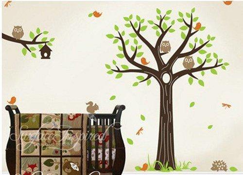vinyl-wall-decal-nursery-baby-tree-decals-forest-friend-animal-branch-cute-owl-hedgehog-dragonfly-le