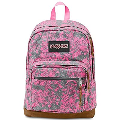 JanSport Right Pack Laptop Backpack (Shady Grey Vintage Bloom - Expressions) from JanSport