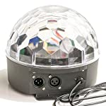 LED Disco Ball by NuLights - RGB Magic Crystal Ball - 100% RISK FREE! Best for Kids Parties, DJs & Mood Lighting. Party Lighting for Indoors/Outdoors - DMX, Sound Activated, Digital Display, 5 Colors by NuLights