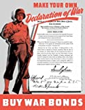 Wallmonkeys WM251055 World War Ii Poster of a Soldier Holding His Rifle and Declaration of War on Japan Peel and Stick Wall Decals (24 in H x 19 in W)