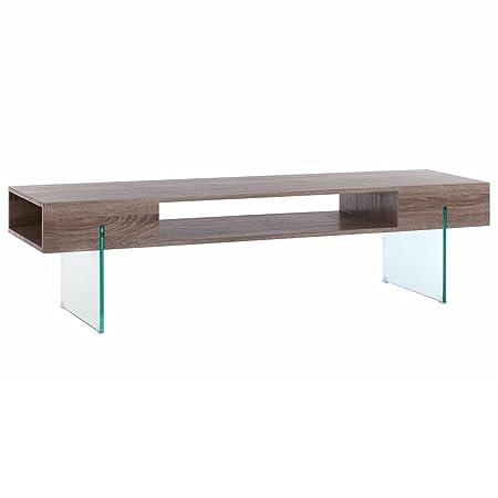 Mueble de TV auxiliar nórdico marrón de madera para salón Fantasy