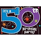 The Party Continues 50th Birthday Invitations, 8ct