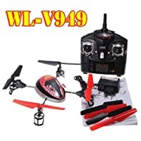 WLToys V949 UFO 4CH 2.4Ghz RC 4-Axis Xcopter Quadcopter Helicopter 3D With GYRO from WL
