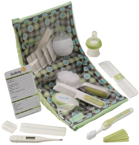 Safety 1St Deluxe Healthcare And Grooming Kit, Spring Green front-363009