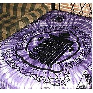 "Purple Kalachakra Tapestry 72"" x 108"""
