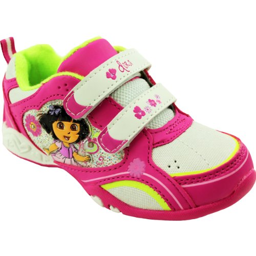 Nickelodeon Dora The Explorer Athletic Shoe (Toddler),White/Pink,6 M Us Toddler back-1036009