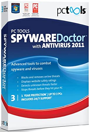 PC Tools Spyware Doctor with Antivirus 2011, 3 Computers, 1 Year Subscription (PC)