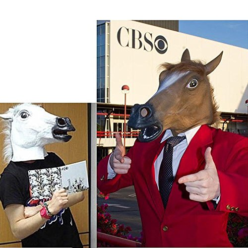 2015 Novelty Creepy Horse halloween mask extremely funny jokes masquerade scary masks latex Rubber Costume Theater Prop Party
