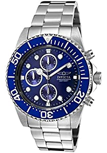 Invicta 1769 Men's Pro Diver Chronograph Stainless Steel Blue Dial & Bezel Watch