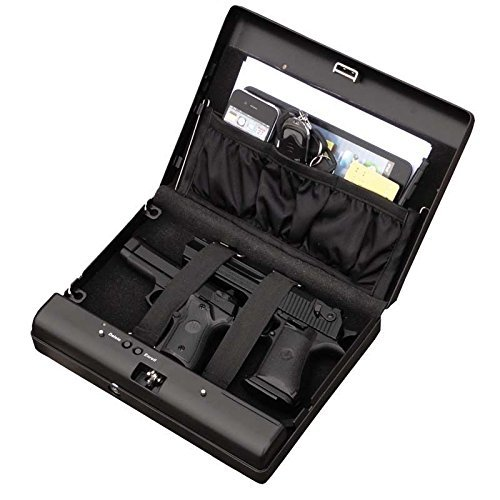 Jeasun Fingerprint Pistol Safe Box Gun Vault Jewelry Safe Box Car Home Biometric Keyless