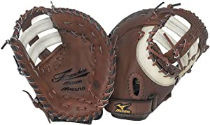 Mizuno Franchise GXF92 Baseball Firstbase Mitt, Brown , 12.50-Inch, Right Handed Throw