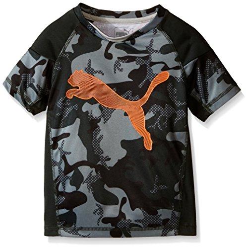 Puma Kids Boy's Camo PUMA® Tee (Little Kids) Army Green 7 (Little Kids)