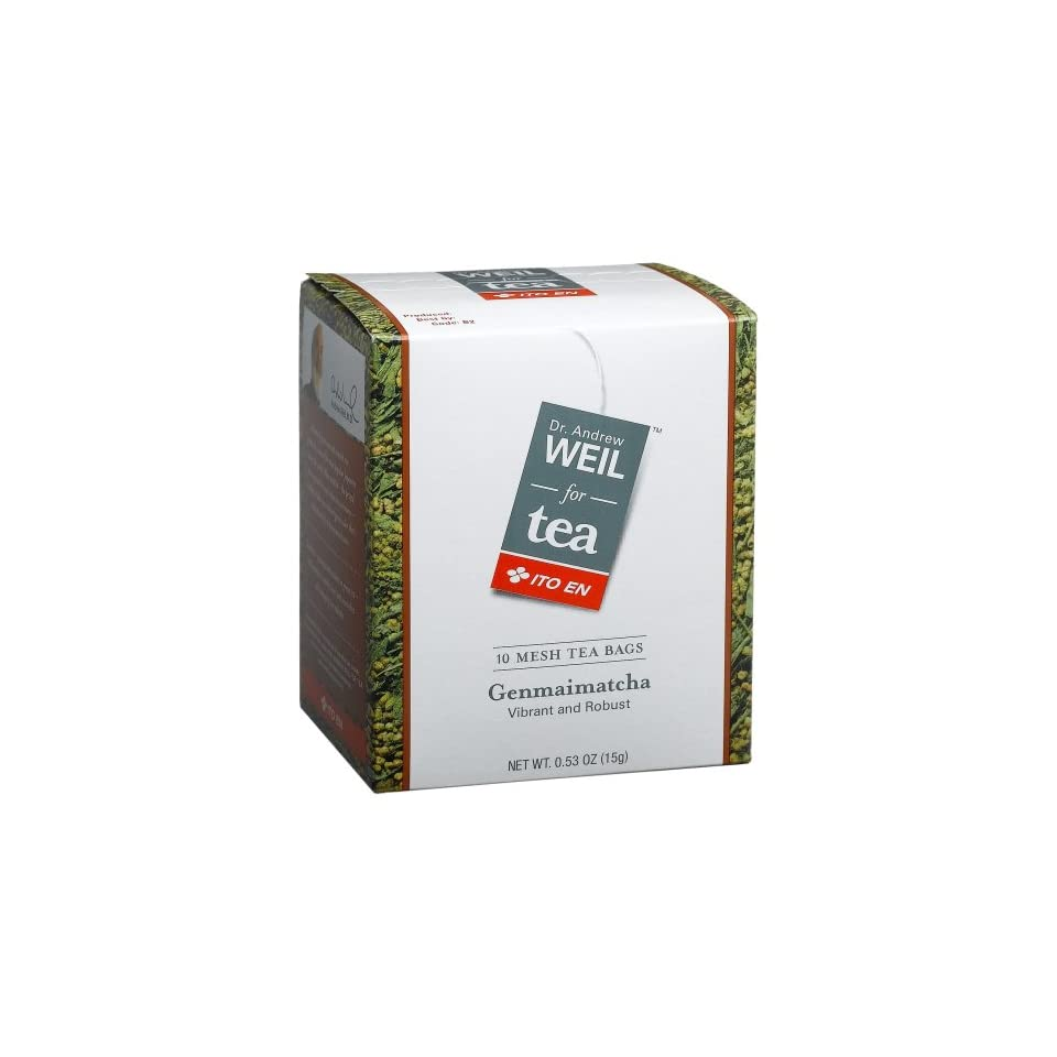 Dr  Weil Tea Genmaimatcha, Vibrant and Robust, 10 Count Tea