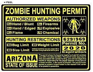Arizona az zombie hunting license permit for Fishing license az