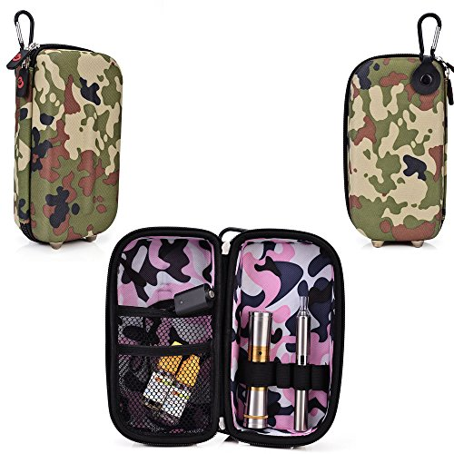 Travel Vape Case-Universal Design In A Camo Green Compatible With The Lg-1000 Disposable E-Cigar