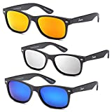 GAMMA RAY CHEATERS Best Value Polarized UV400 Wayfarer Style Sunglasses with Mirror Lens and Multi Pack Options