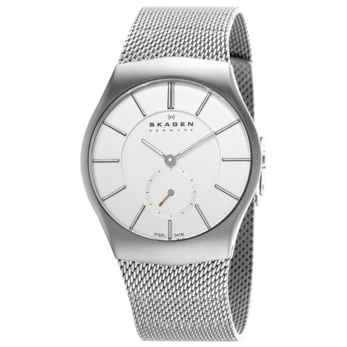 Skagen Designs Men's Matte Analogue Watch 916XLSSS with Silver Dial