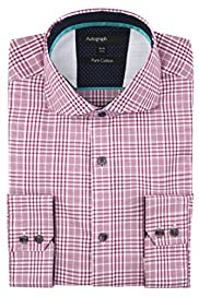 Autograph Pure Cotton Prince of Wales Checked Shirt [T11-0626A-S]