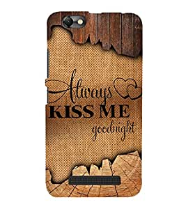 Always Kiss me Good Night Cute Fashion 3D Hard Polycarbonate Designer Back Case Cover for Lenovo Vibe C :: Lenovo A2020