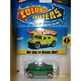 Hot Wheels Color Shifters Green - Blue Humvee
