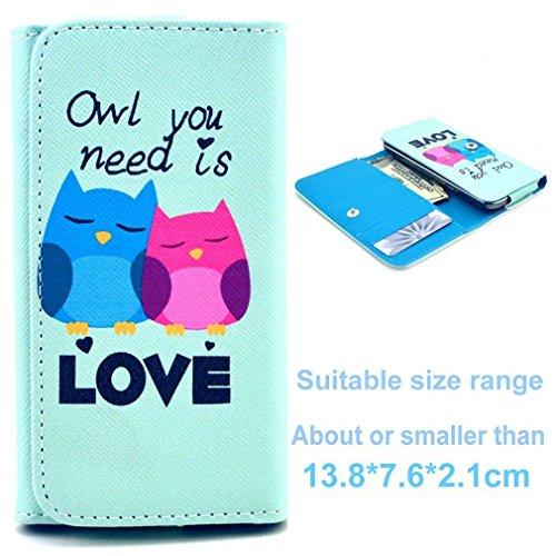 (3#M) Portemonnaie PU-Leder Multipurpose