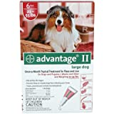 Advantage II 6 Month Dogs 21-55 Lbs (Red) @