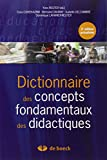 Dictionnaire des concepts fondamentaux des didactiques