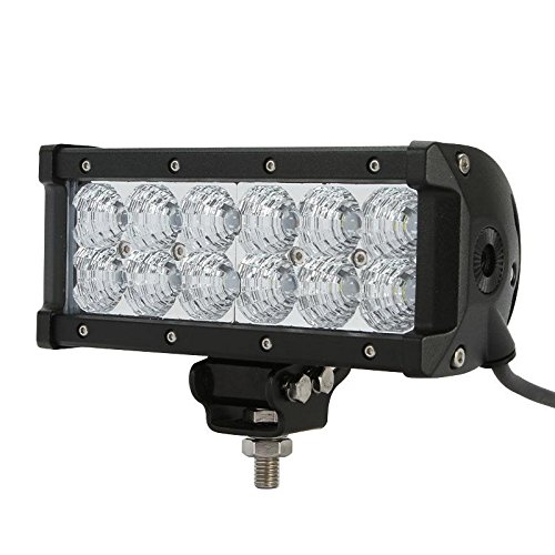 "7.5"" 36W Led Light Bar 3600Lm Dc 9-40V 12Pcs 3W Cree Chips Flood Beam 60 Degree For Off-Road Vehicle Car Suv Truck Pickup Offroad Ford F150"