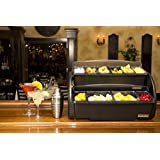 San Jamar BDS4266 Dome Stacker, (3) 2 quart Deep Trays and (6) 1 pint Std Trays, Chillable