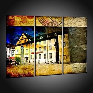 Kunstdruck Dekorative Drucke von Freiburg Motiven in 120x165 cm
