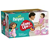 Pampers Easy Ups Girl Trainers Super Pack Size 4 S2t/3t 80 Count