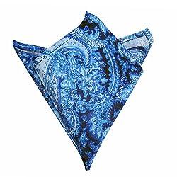 Blacksmithh Blue Water Paisley Printed Pocket Square