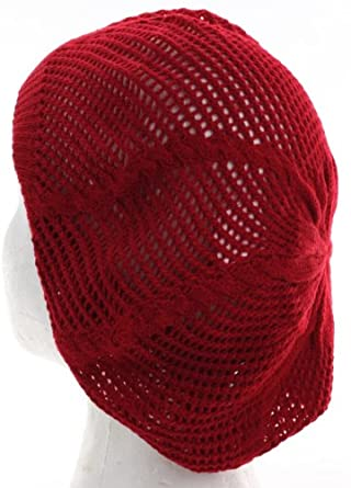 Knit Net Pattern Beret Hat for Fashionable Women, Summer ...