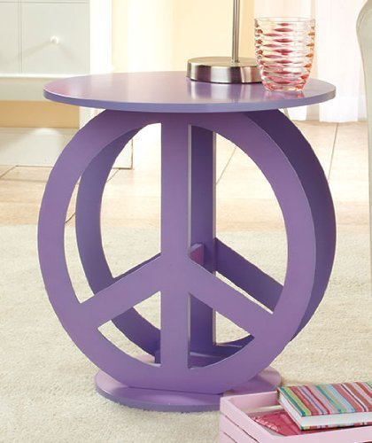 Buy Low Price Peace Sign Purple End Accent Table Display Stand (B008DYHIGO)