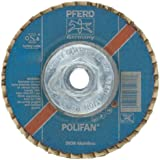 PFERD Polifan SGP CO-COOL Abrasive Flap Disc, Type 29, Round Hole, Phenolic Resin Backing, Zirconia Alumina