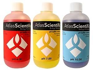 Atlas Scientific pH Calibration Solution Kit 4.0, 7.0, and 10.0 - 4 Oz Bottles