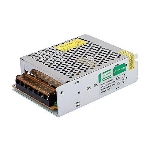 Liqoo® 100W DC 12V 8,4A LED Netzteil Treiber Trafo Transformator Netzgerät für Leuchmittel Streifen 130 x 98 x 40mm