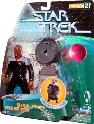 CAPTAIN BENJAMIN SISKO Star Trek: Deep Space Nine 1998 Warp Factor Series 2 Action Figure & Deluxe U.S.S. Defiant Captain's Chair