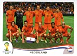 2014 Panini World Cup Soccer Sticker # 128 Nederland Team Team Netherlands
