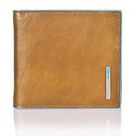Portafoglio Piquadro Blue Square sabbia con molla per banconote PU1666B2/SA
