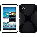 Custodia in Silicone per Samsung Galaxy Tab 2 7.0 - X-Style nero - Cover PhoneNatic + pellicola protettiva